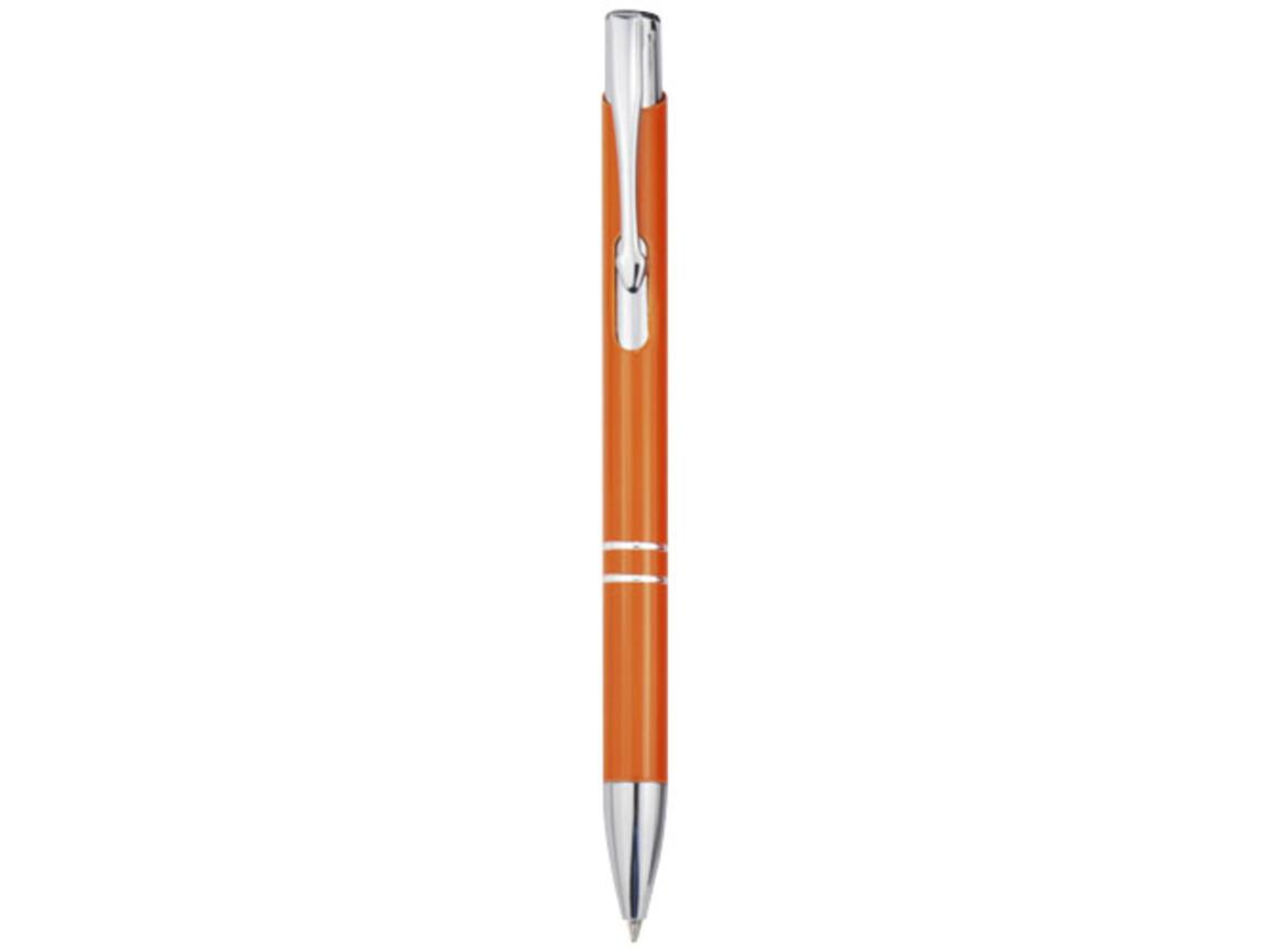 Moneta Druckkugelschreiber aus Aluminium, orange bedrucken, Art.-Nr. 10744008