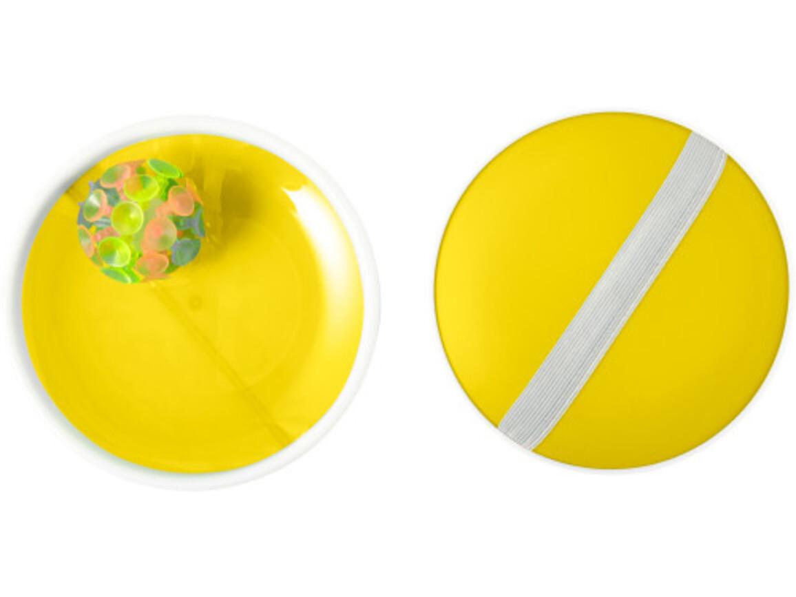 Ballspiel-Set 'Have Fun' – Gelb bedrucken, Art.-Nr. 006999999_7819