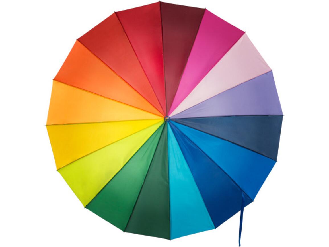 Portierschirm 'Rainbow' aus Nylon – custom/multicolor bedrucken, Art.-Nr. 009999999_4058