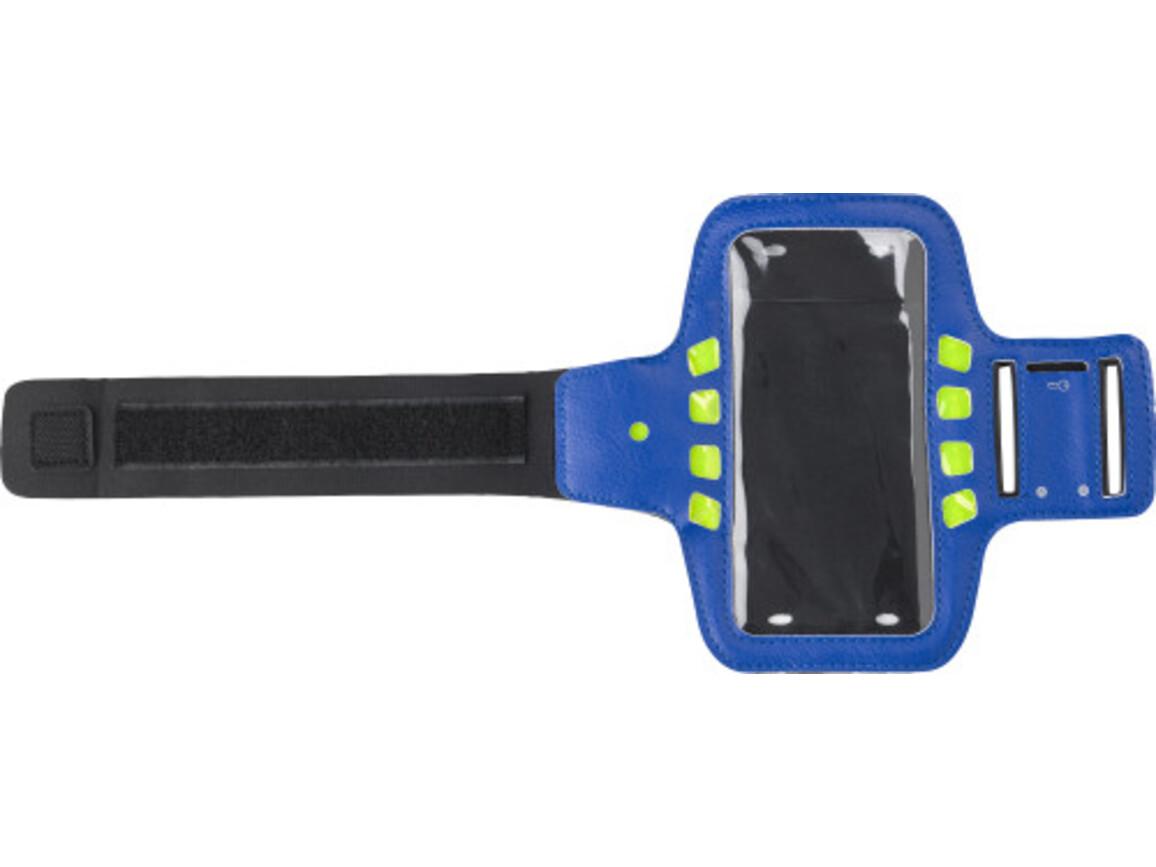 Smartphonehülle 'Sport' aus Neopren und PU – Blau bedrucken, Art.-Nr. 005999999_8173