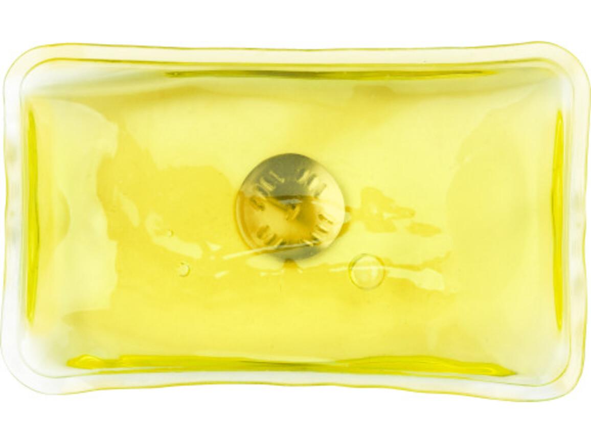 Wärmekissen 'Cozy' aus PVC – Gelb bedrucken, Art.-Nr. 006999999_5077