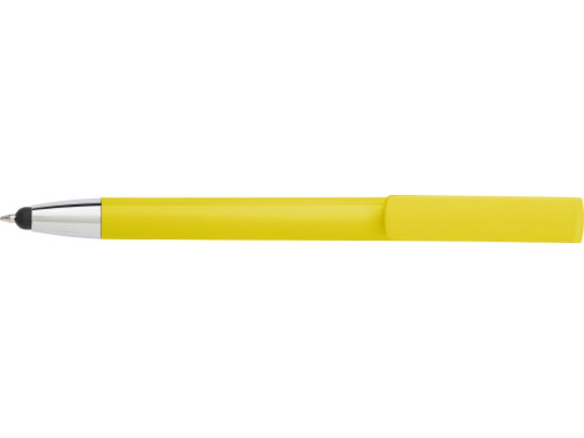 Kugelschreiber 'Diversity' aus ABS-Kunststoff – Gelb bedrucken, Art.-Nr. 006999999_7124