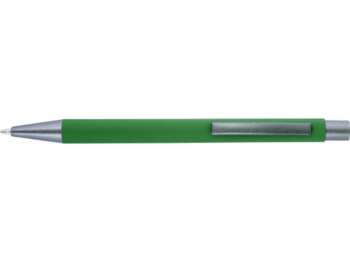 Kugelschreiber 'Amrum' mit Softtouch-Oberfläche und Glanzgravur – Grün bedrucken, Art.-Nr. 004999999_8298