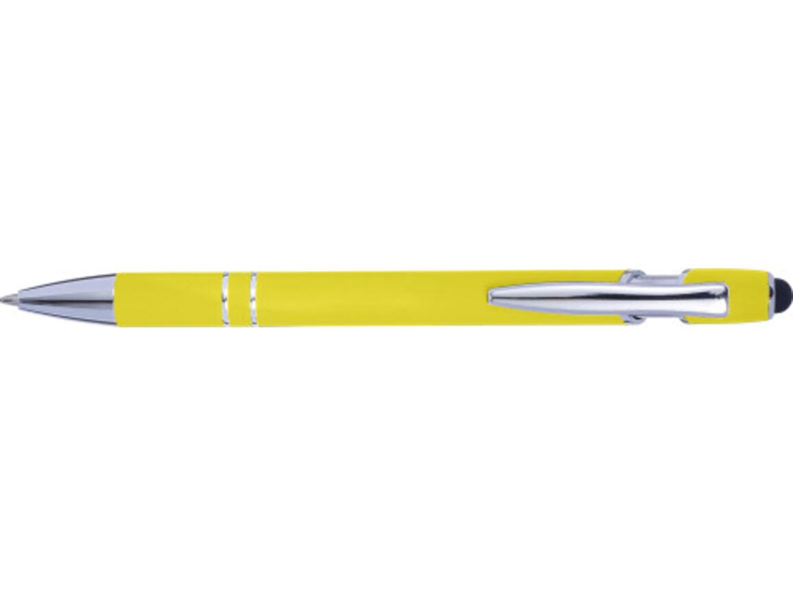 Kugelschreiber 'Wangerooge' mit Touchfunktion – Gelb bedrucken, Art.-Nr. 006999999_8462