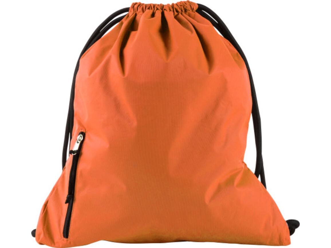 Turnbeutel 'Finn' aus Pongee – Orange bedrucken, Art.-Nr. 007999999_9003