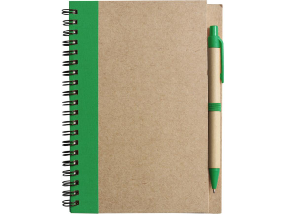 Notizbuch 'Freak' aus recyceltem Papier – Grün bedrucken, Art.-Nr. 004999999_2715