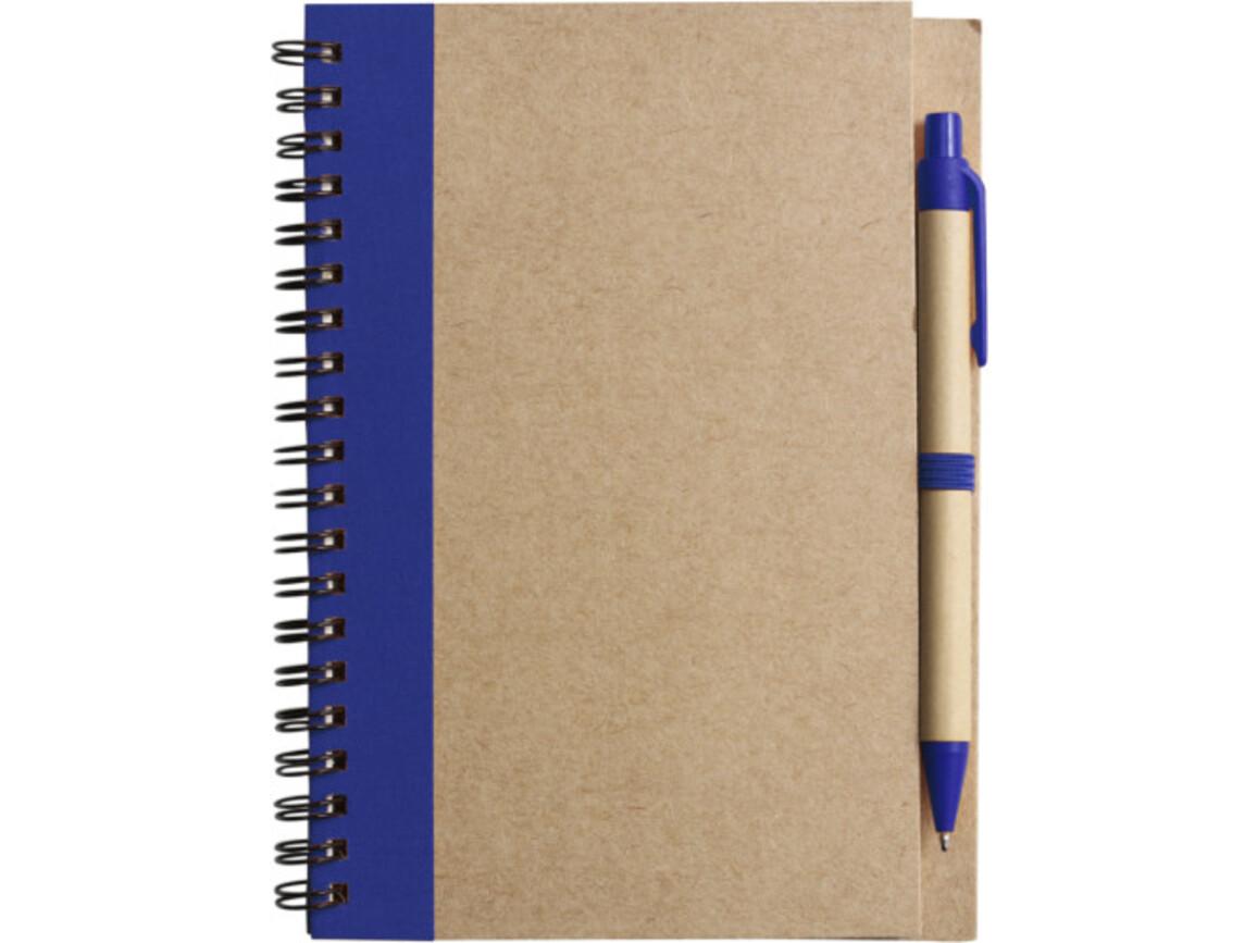 Notizbuch 'Freak' aus recyceltem Papier – Blau bedrucken, Art.-Nr. 005999999_2715