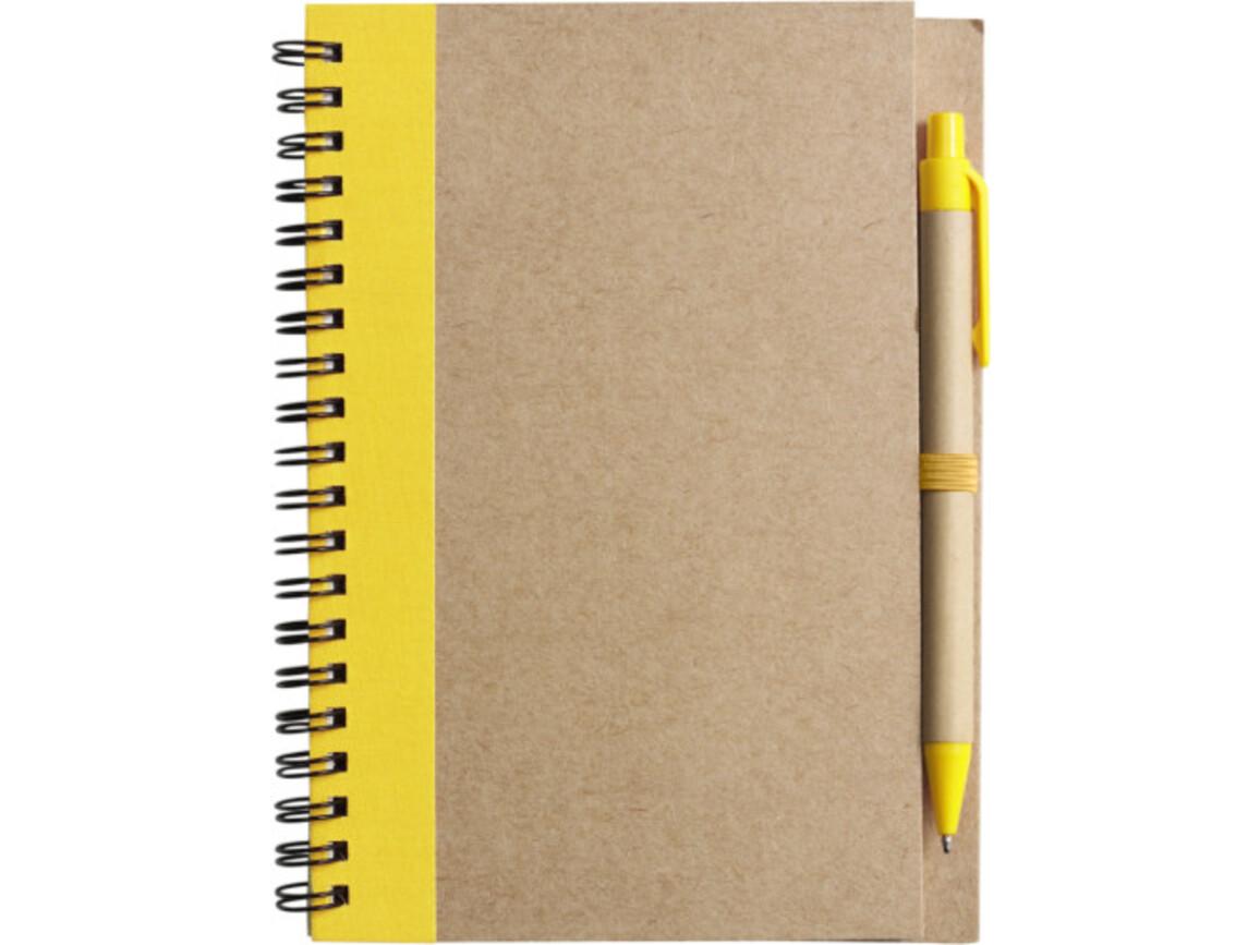 Notizbuch 'Freak' aus recyceltem Papier – Gelb bedrucken, Art.-Nr. 006999999_2715