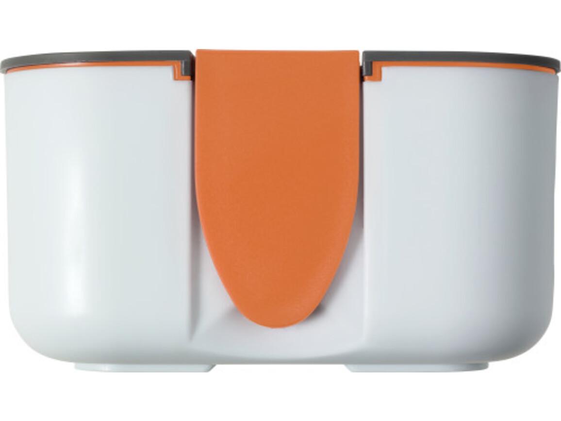 Brotdose 'Bob' (850 ml) aus Silikon und Kunststoff – Orange bedrucken, Art.-Nr. 007999999_8520