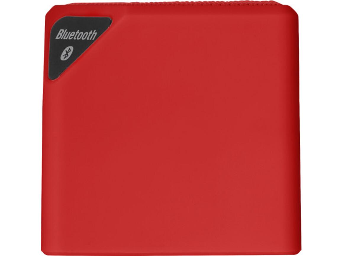 BT/Wireless-Lautsprecher 'Blogger' aus Kunststoff – Rot bedrucken, Art.-Nr. 008999999_7297