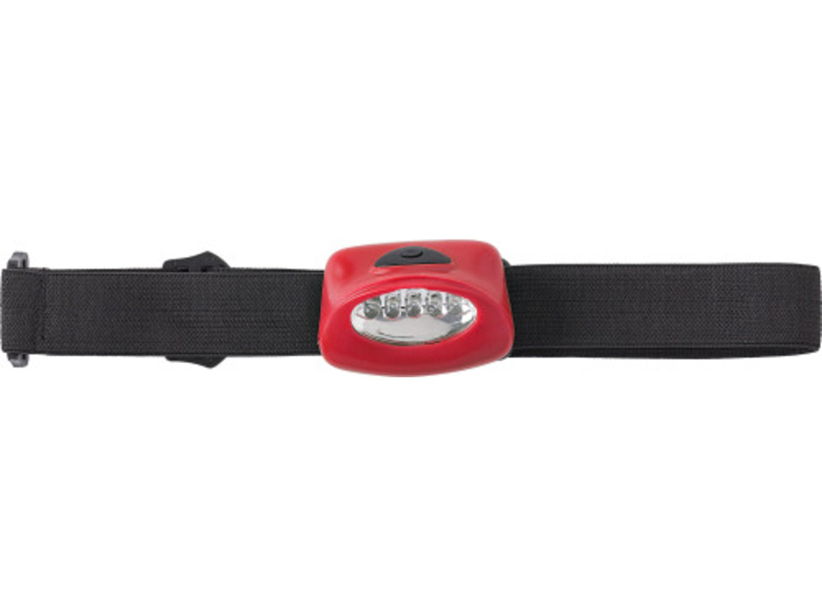 LED-Kopflampe 'Kolding' aus Kunststoff – Rot bedrucken, Art.-Nr. 008999999_4807