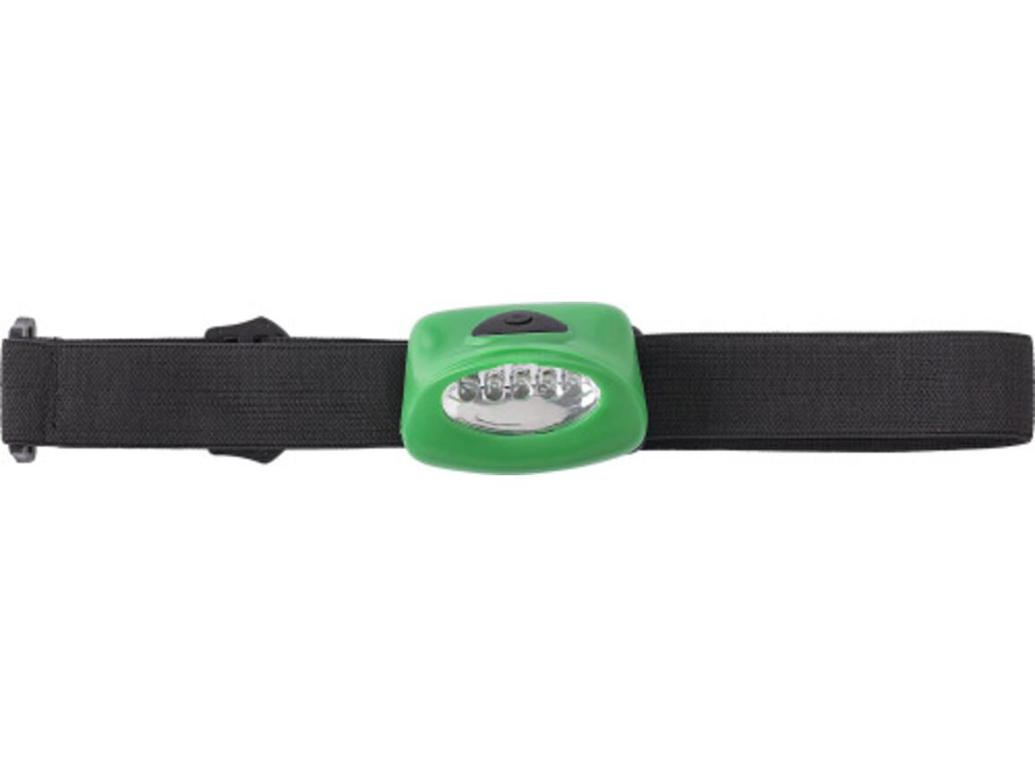 LED-Kopflampe 'Kolding' aus Kunststoff – Grün bedrucken, Art.-Nr. 004999999_4807