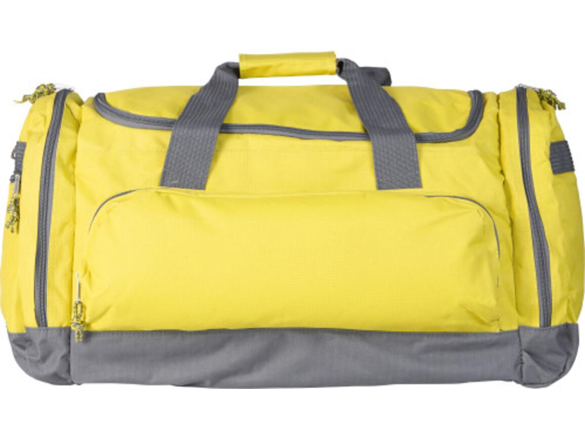 Sport-/Reisetasche 'Carribean' aus Polyester – Gelb bedrucken, Art.-Nr. 006999999_6431