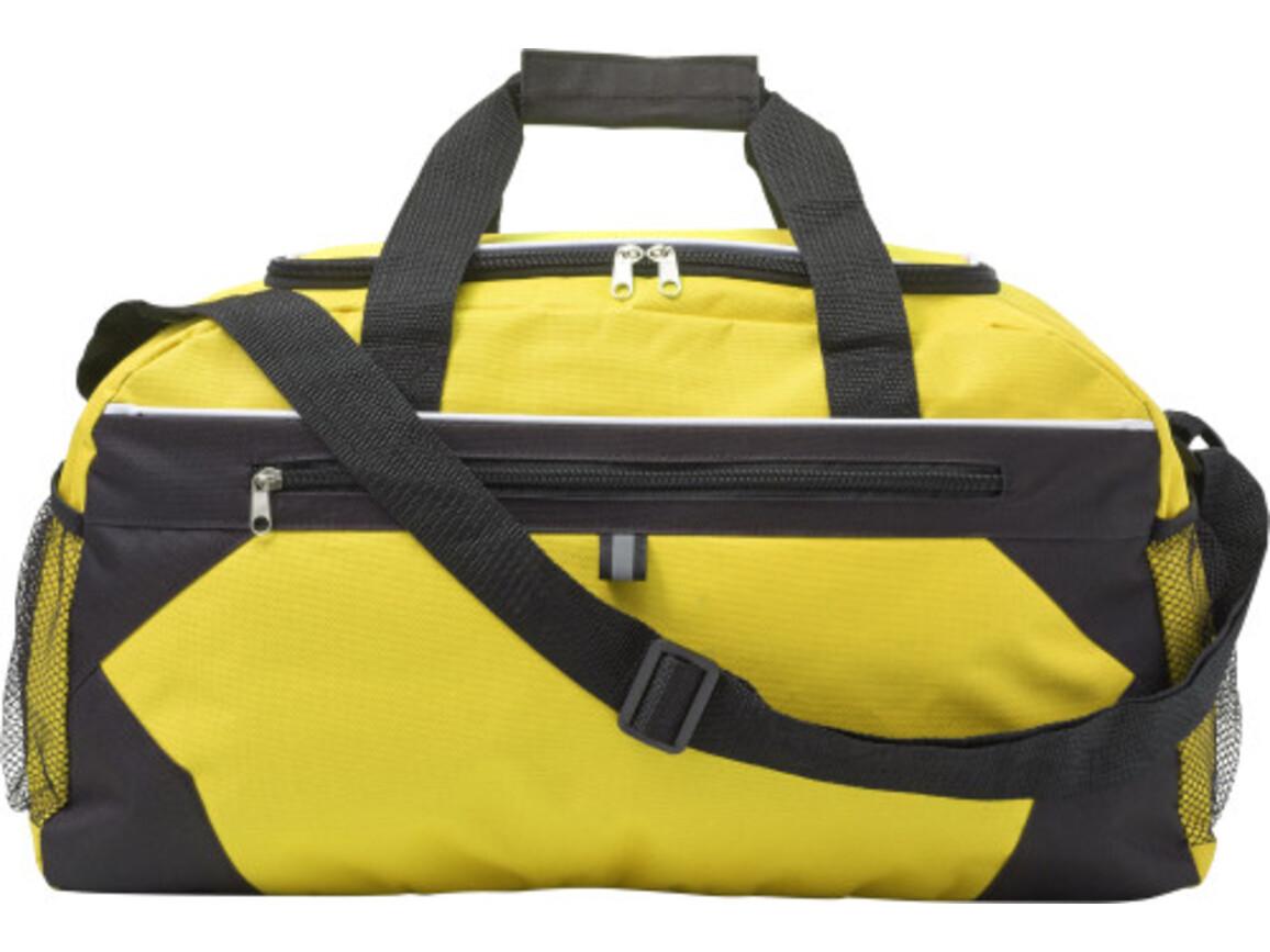 Sporttasche 'Gym' aus Polyester – Gelb bedrucken, Art.-Nr. 006999999_7656