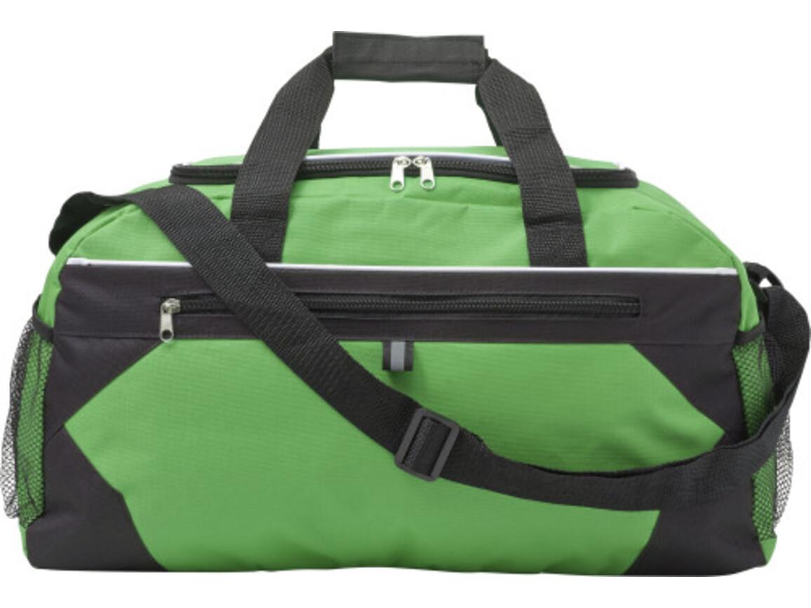 Sporttasche 'Gym' aus Polyester – Grün bedrucken, Art.-Nr. 004999999_7656