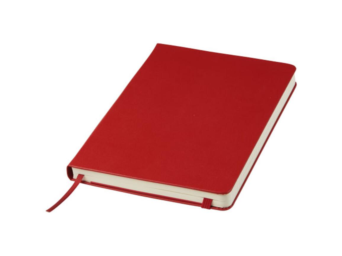 Classic Hardcover Notizbuch L – liniert, scharlachrot bedrucken, Art.-Nr. 10715115