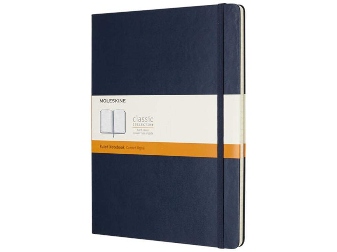 Classic Hardcover Notizbuch XL – liniert, saphir bedrucken, Art.-Nr. 10715209