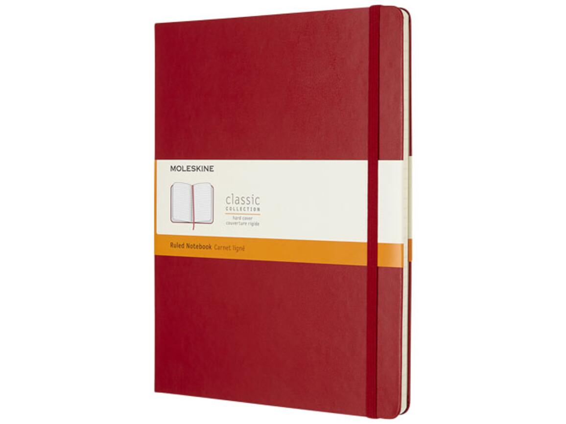 Classic Hardcover Notizbuch XL – liniert, scharlachrot bedrucken, Art.-Nr. 10715215