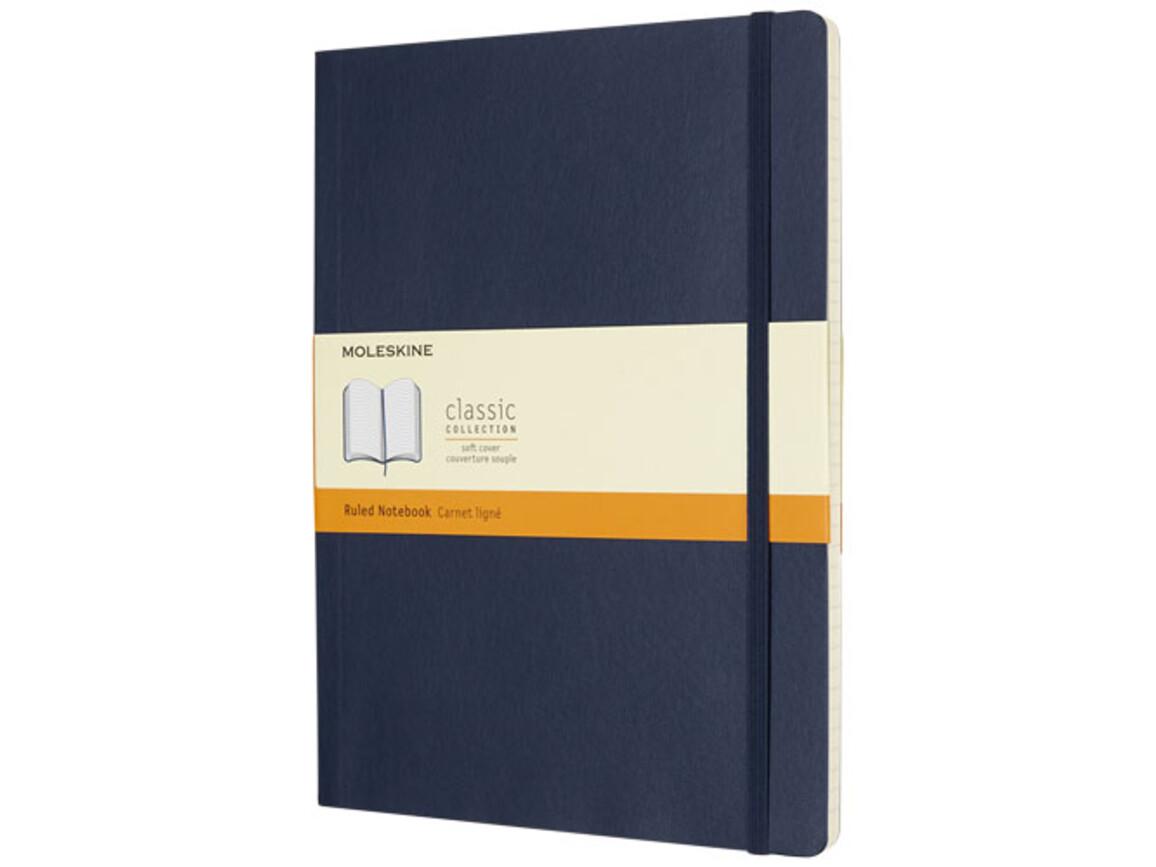 Classic Softcover Notizbuch XL – liniert, saphir bedrucken, Art.-Nr. 10715509