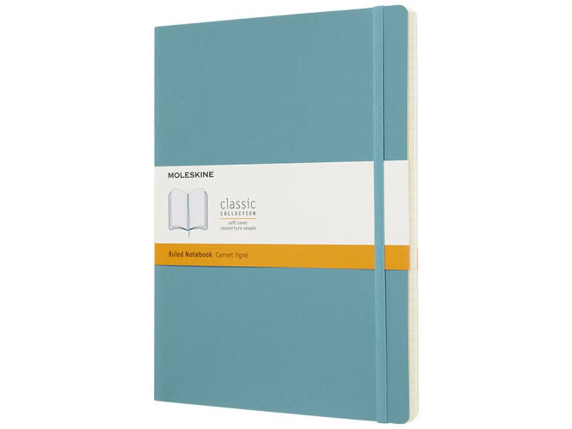 Classic Softcover Notizbuch XL – liniert, riffblau bedrucken, Art.-Nr. 10715510