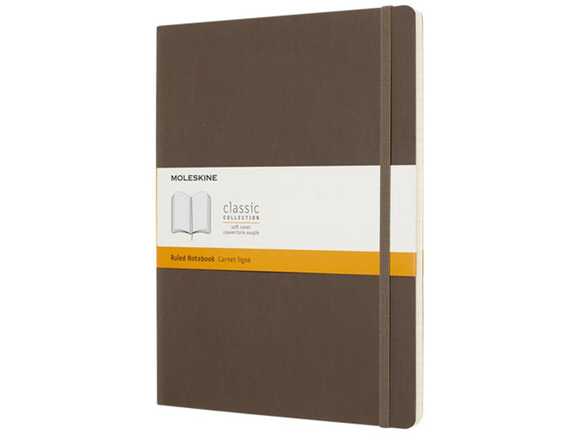 Classic Softcover Notizbuch XL – liniert, erdbraun bedrucken, Art.-Nr. 10715524