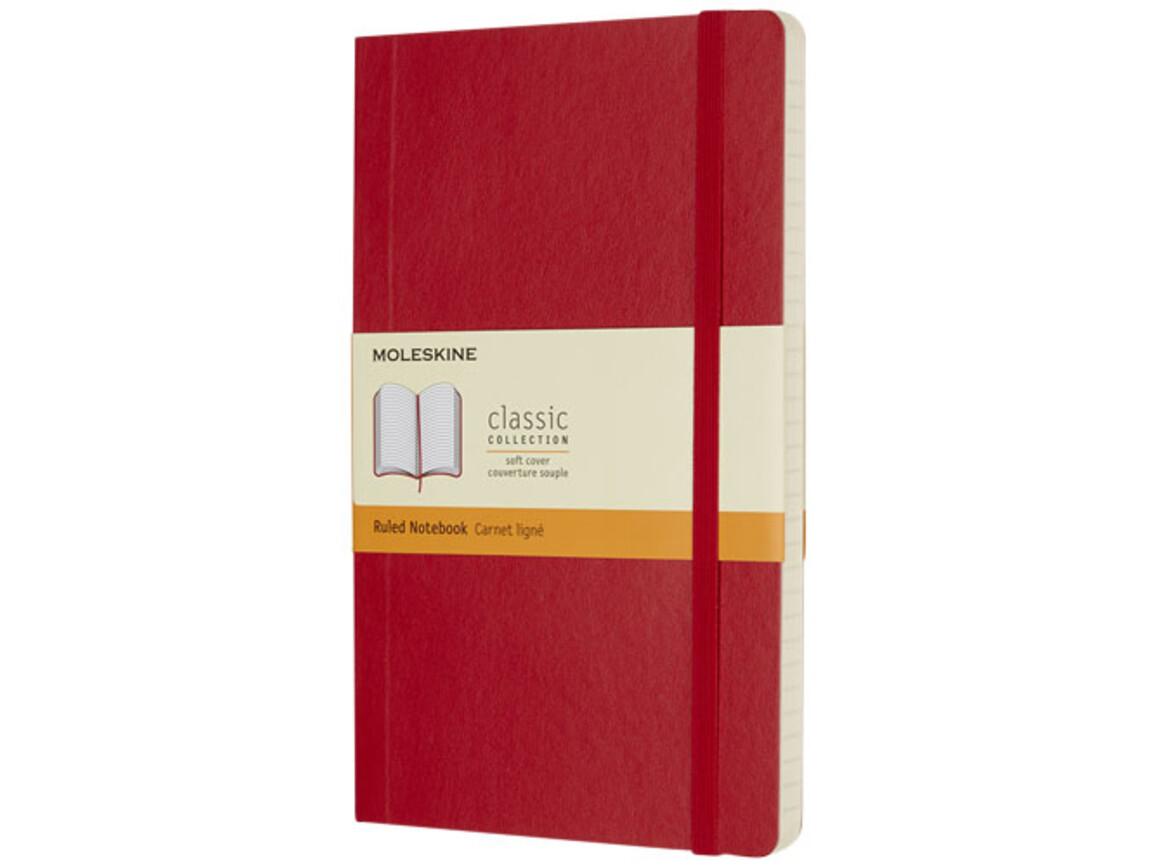 Classic Softcover Notizbuch L – liniert, scharlachrot bedrucken, Art.-Nr. 10715615