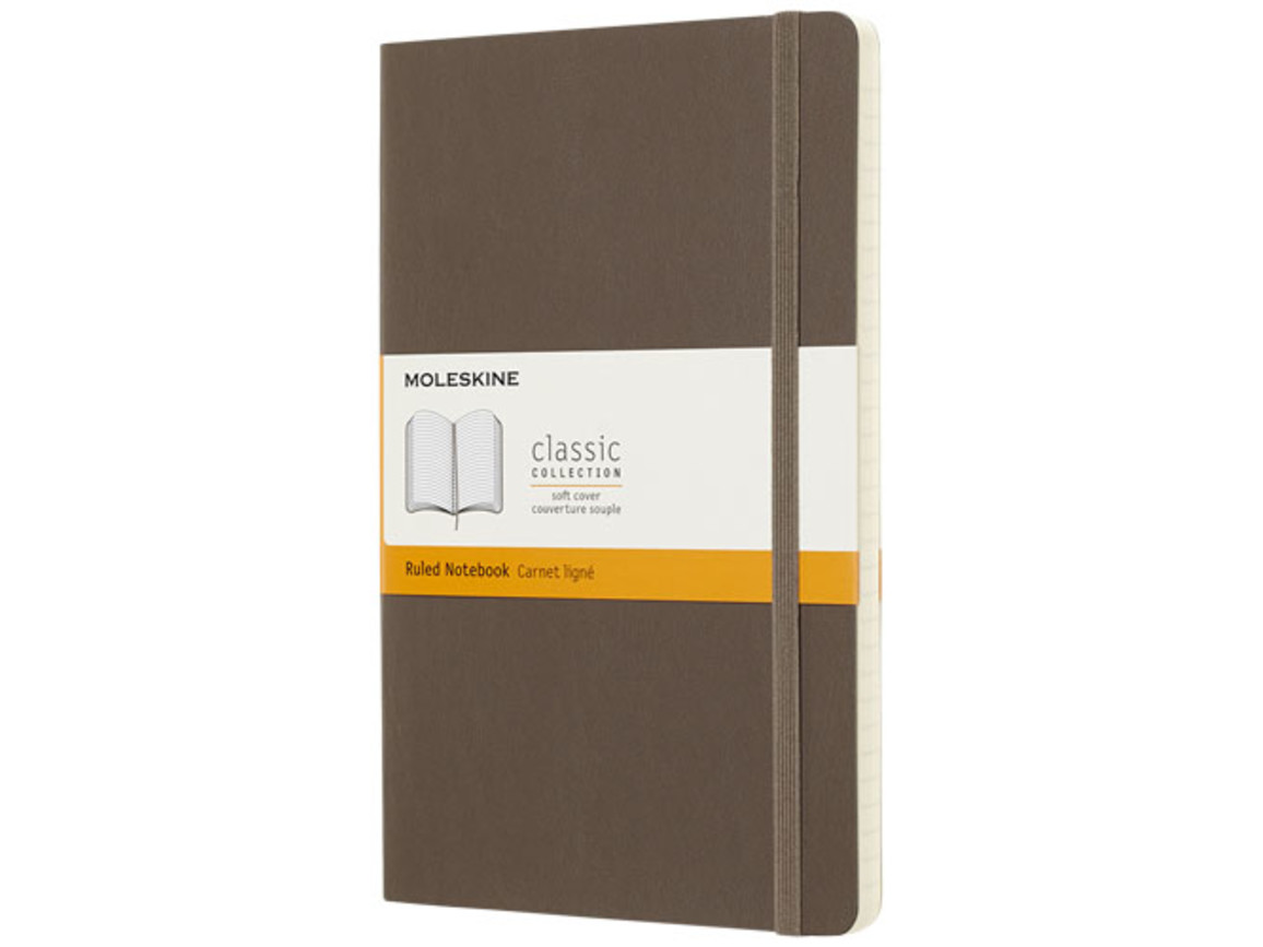 Classic Softcover Notizbuch L – liniert, erdbraun bedrucken, Art.-Nr. 10715624