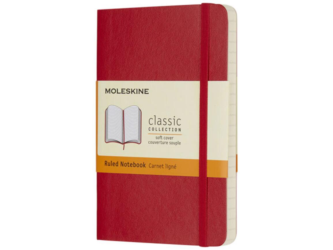 Classic Softcover Notizbuch Taschenformat – liniert, scharlachrot bedrucken, Art.-Nr. 10715715
