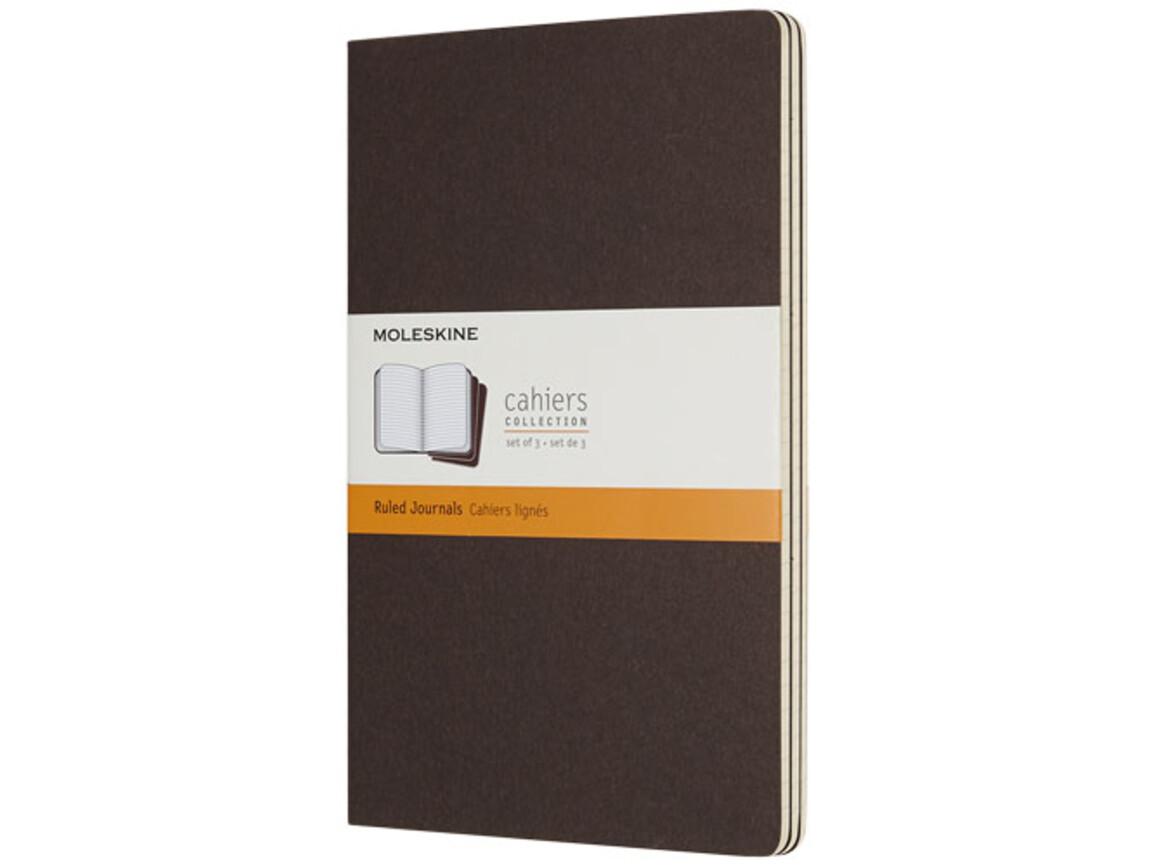 Cahier Journal L – liniert, kaffeebraun bedrucken, Art.-Nr. 10715808