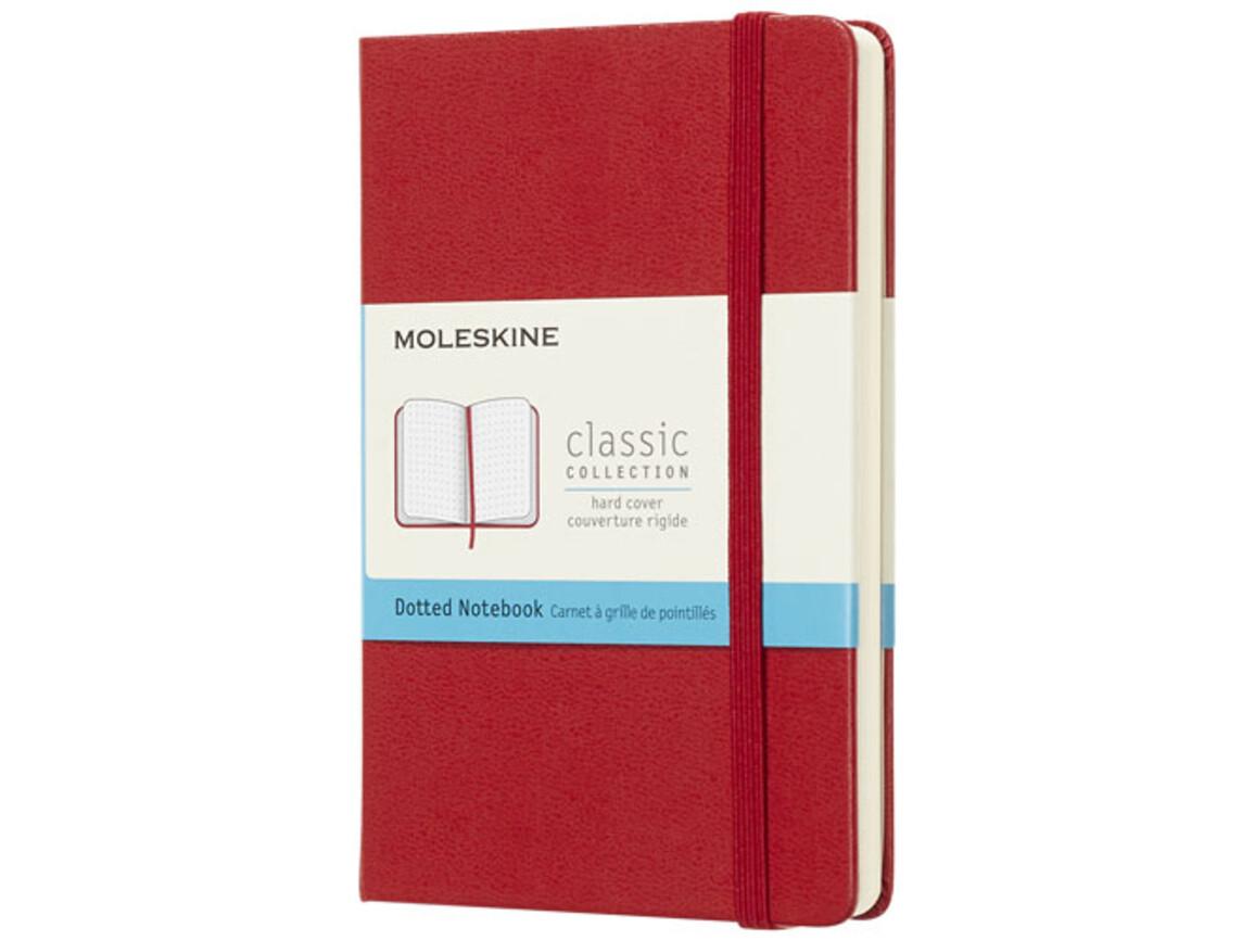 Classic Hardcover Notizbuch Taschenformat – gepunktet, scharlachrot bedrucken, Art.-Nr. 10717115