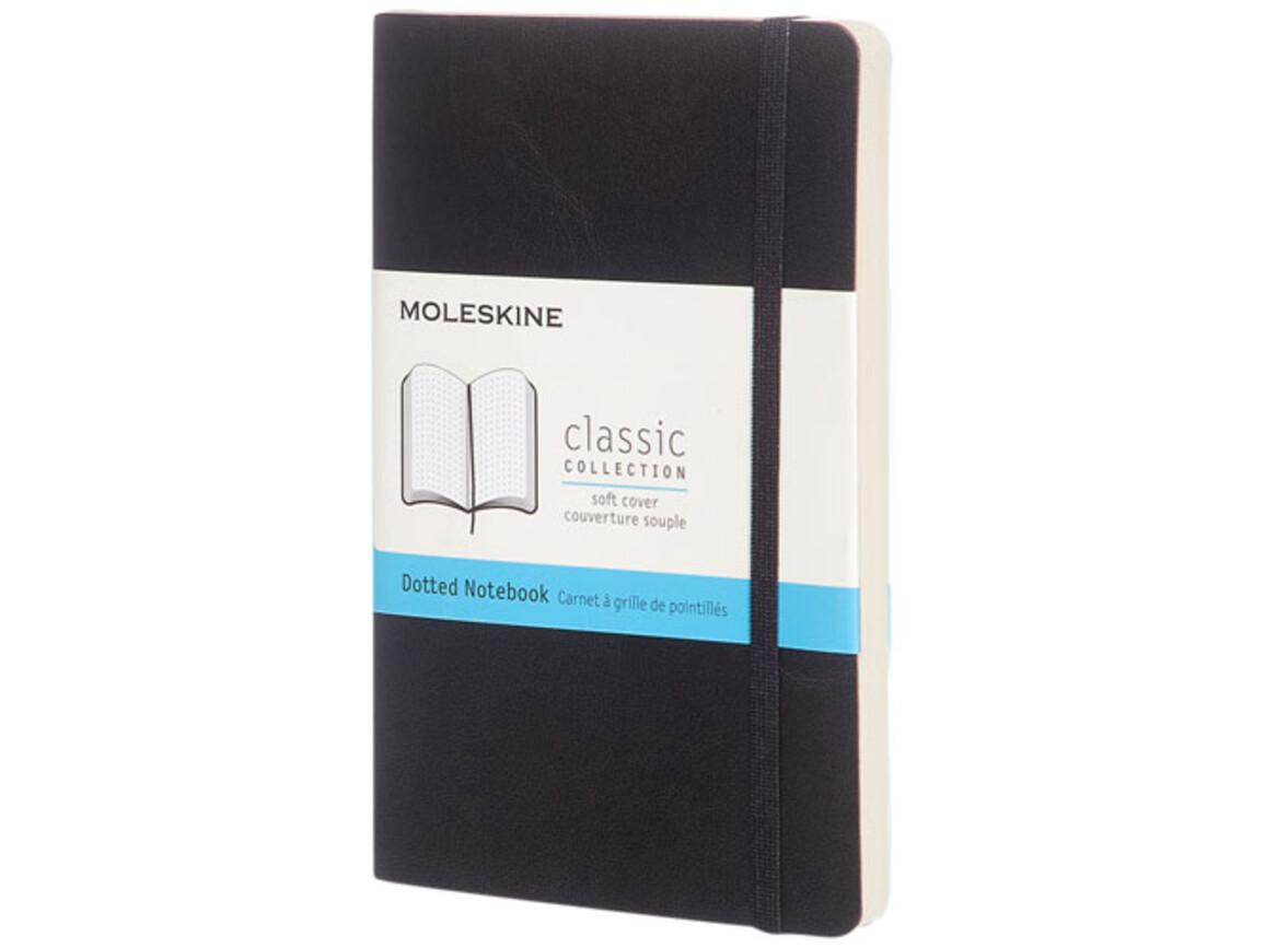 Classic Softcover Notizbuch Tachenformat – gepunktet, schwarz bedrucken, Art.-Nr. 10717200