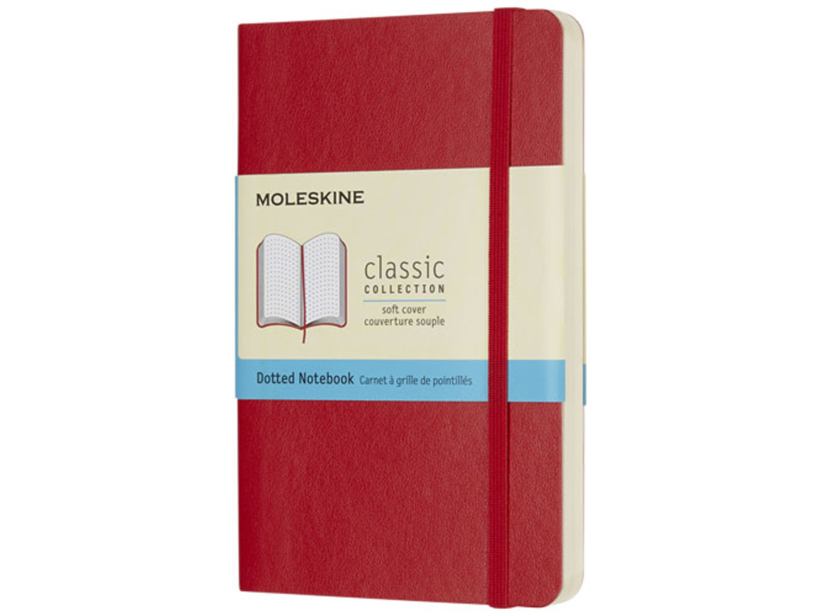Classic Softcover Notizbuch Tachenformat – gepunktet, scharlachrot bedrucken, Art.-Nr. 10717215