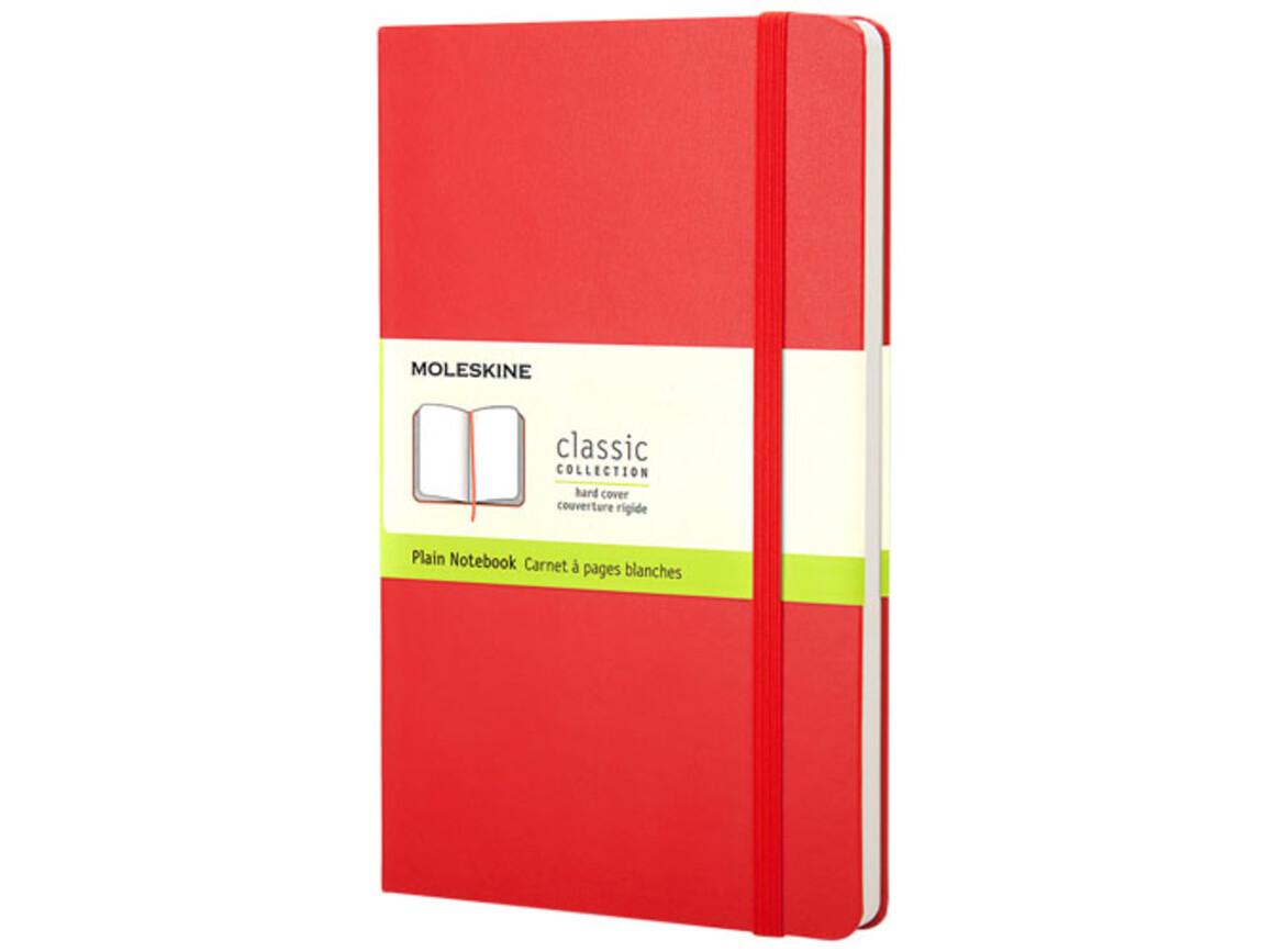 Classic Hardcover Notizbuch Taschenformat – blanko, scharlachrot bedrucken, Art.-Nr. 10717315