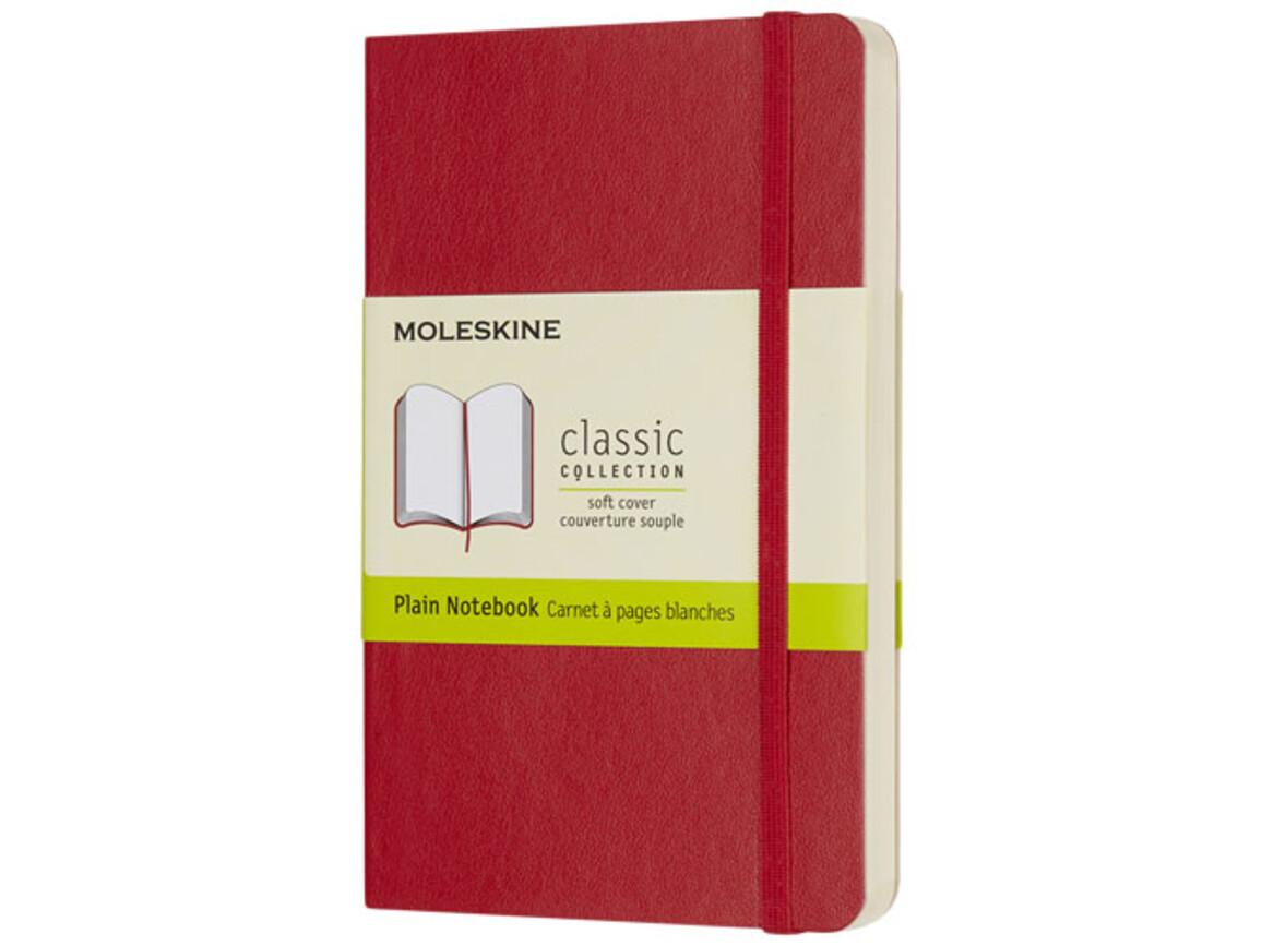 Classic Softcover Notizbuch Taschenformat – blanko, scharlachrot bedrucken, Art.-Nr. 10717415