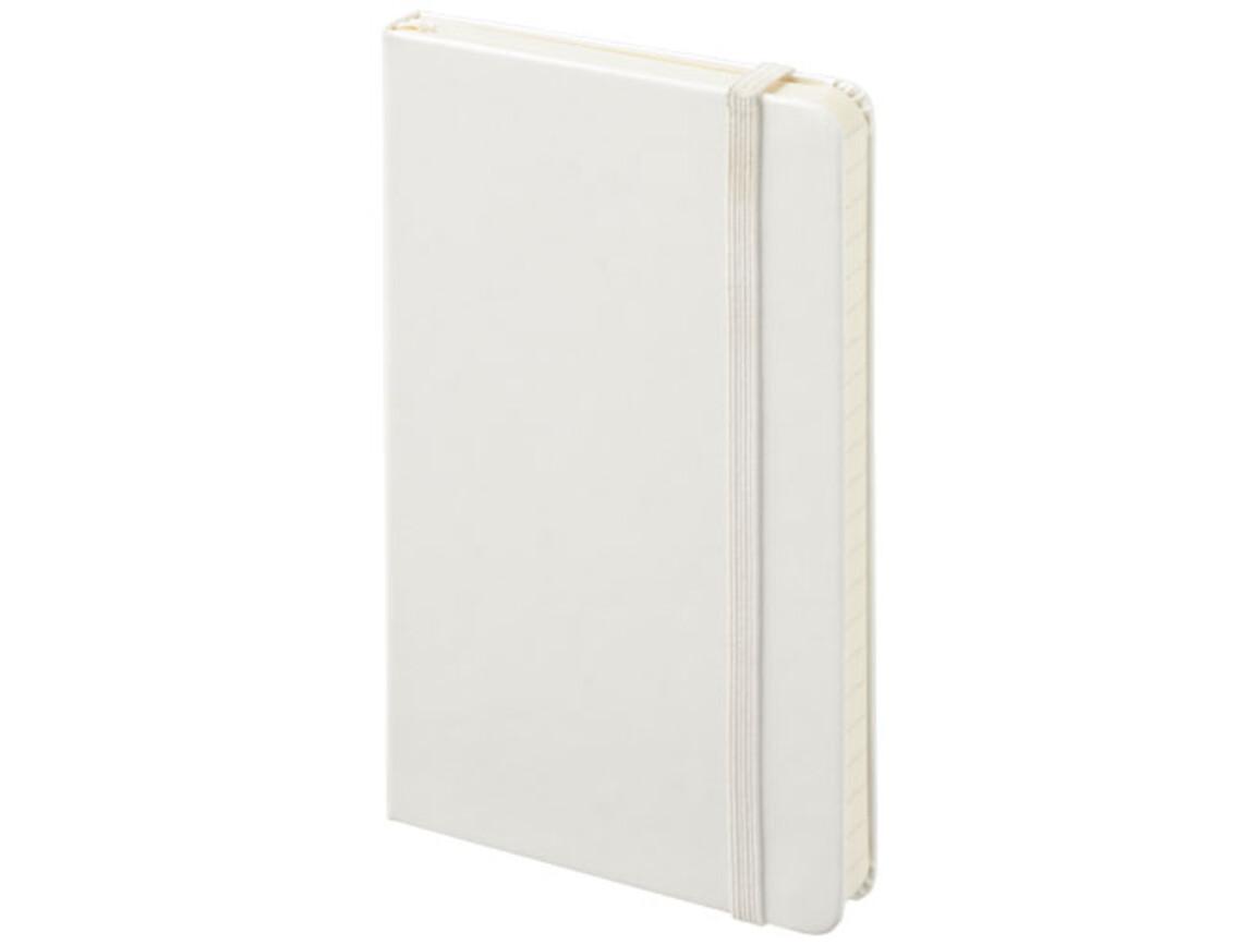 Classic Hardcover Notizbuch Taschenformat – kariert, weiss bedrucken, Art.-Nr. 10717503