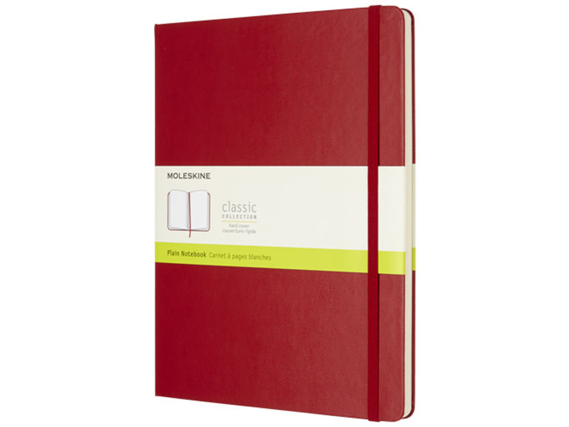Classic Hardcover Notizbuch XL – blanko, scharlachrot bedrucken, Art.-Nr. 10718015
