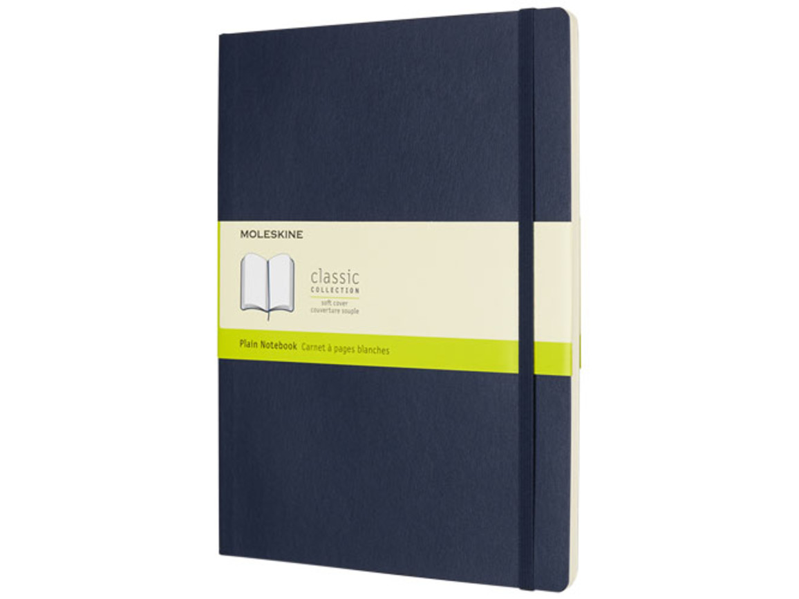 Classic Softcover Notizbuch XL – blanko, saphir bedrucken, Art.-Nr. 10718109
