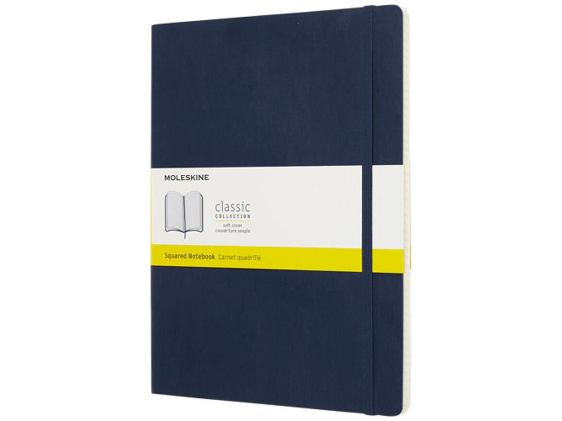 Classic Softcover Notizbuch XL – kariert, saphir bedrucken, Art.-Nr. 10718309