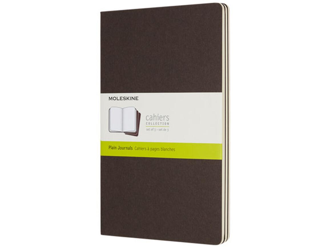 Cahier Journal L – blanko, kaffeebraun bedrucken, Art.-Nr. 10719208