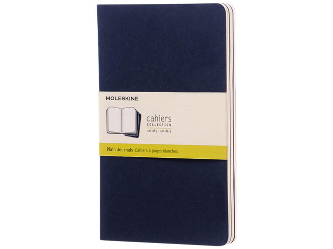 Cahier Journal L – blanko, indigoblau bedrucken, Art.-Nr. 10719211