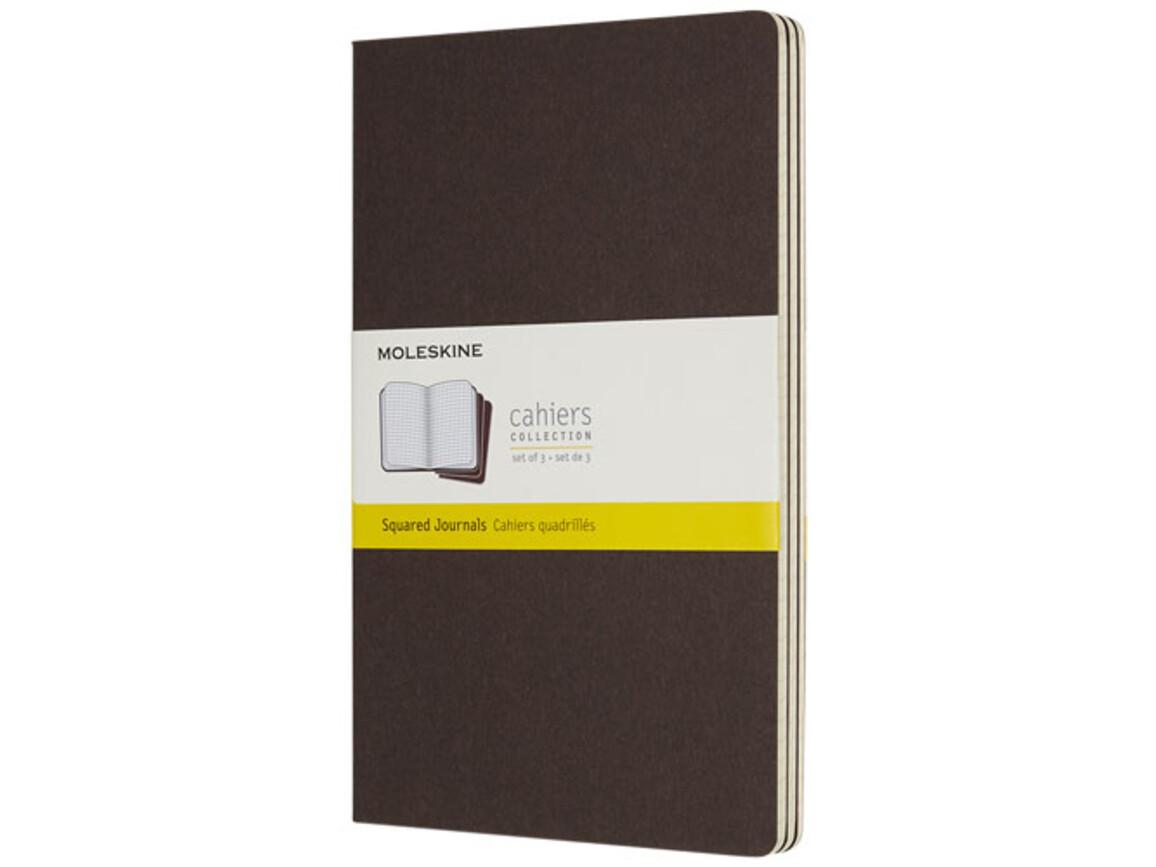 Cahier Journal L – kariert, kaffeebraun bedrucken, Art.-Nr. 10719308