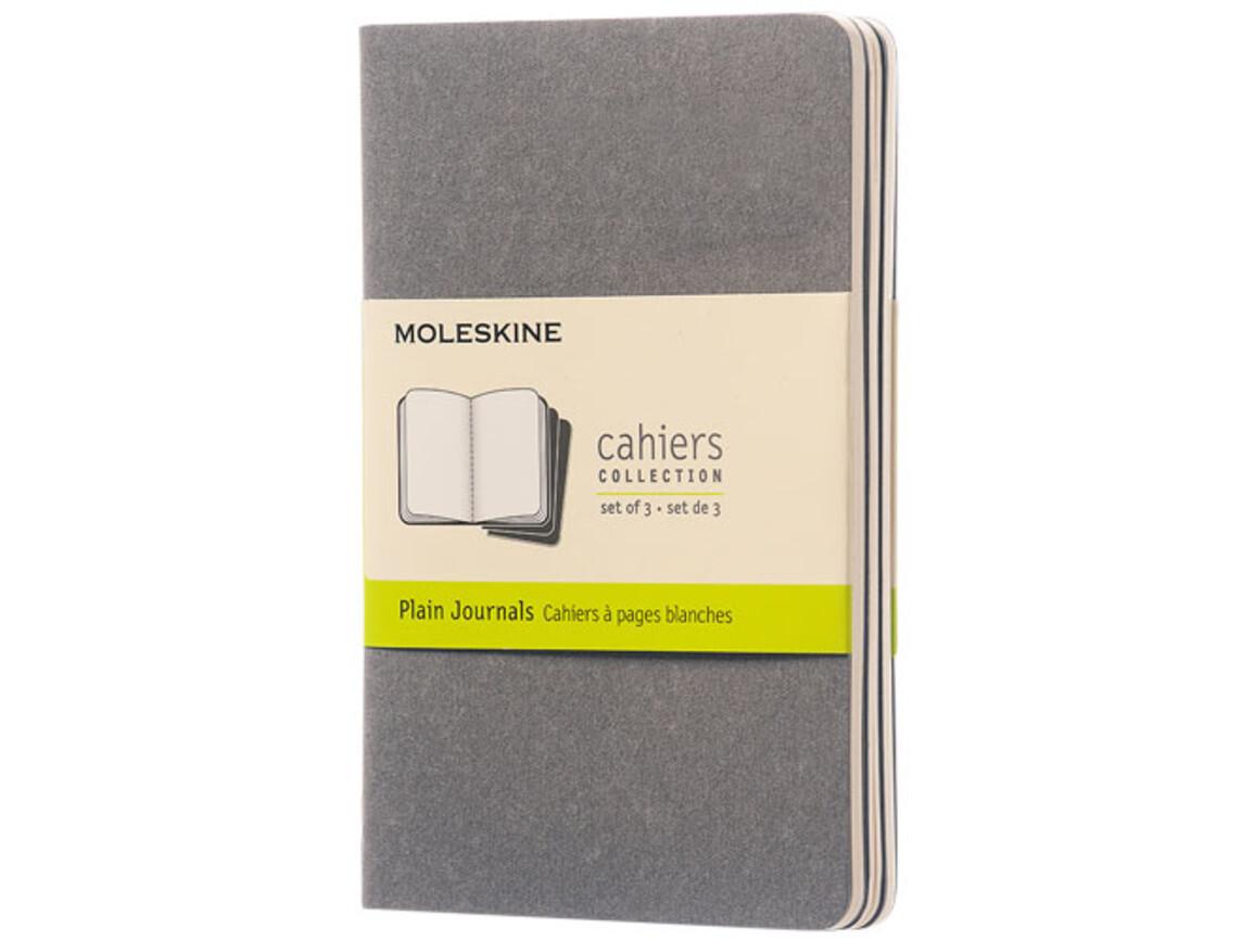 Cahier Journal Taschenformat – blanko, kieselgrau bedrucken, Art.-Nr. 10719417