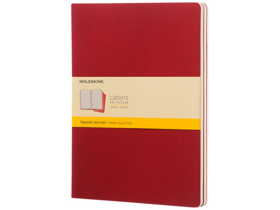 Cahier Journal XL – kariert, Cranberry rot bedrucken, Art.-Nr. 10719716
