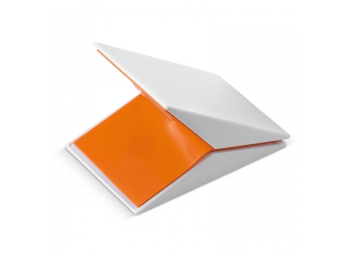Click-Clack magnetischer Memo-Clip - Weiss / Orange bedrucken, Art.-Nr. LT91811-N0126