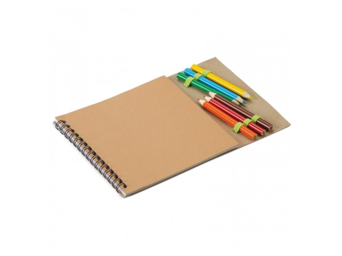 Kinder Zeichenset - Braun bedrucken, Art.-Nr. LT92518-N0051