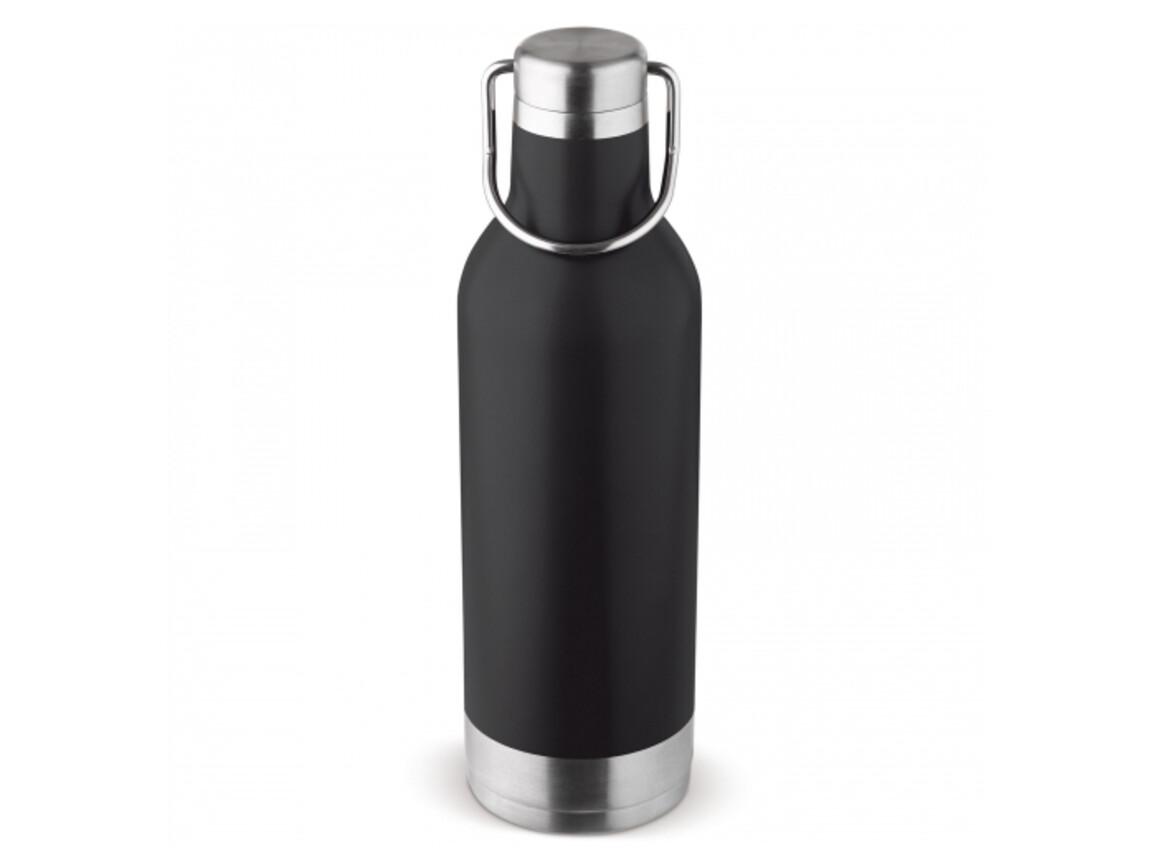 Edelstahl-Isolierflasche 400ml - Schwarz bedrucken, Art.-Nr. LT98811-N0002
