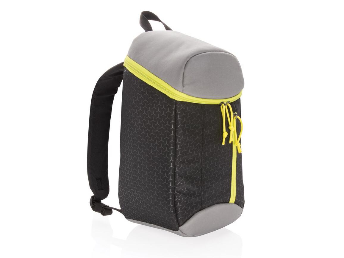 Kühlrucksack 10L schwarz, limone bedrucken, Art.-Nr. P733.071