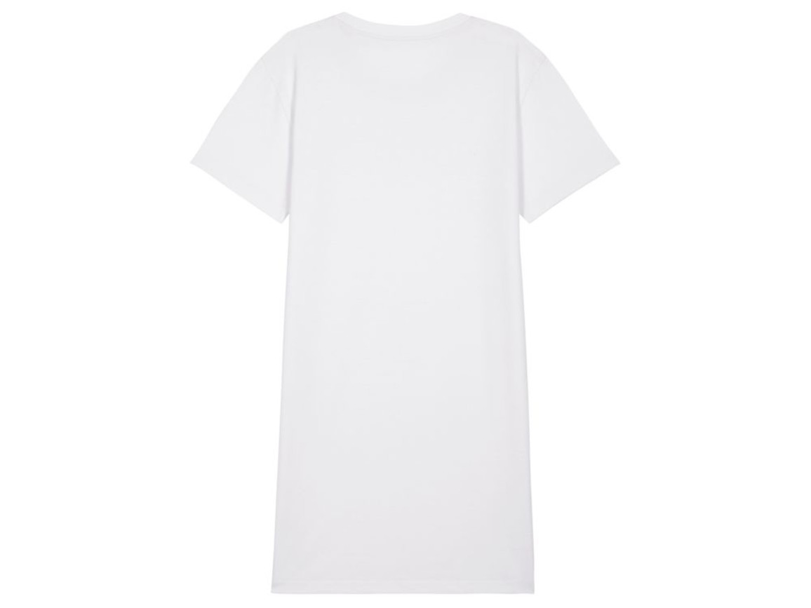 Damen T-Shirt-Kleid - White - M bedrucken, Art.-Nr. STDW144C0011M