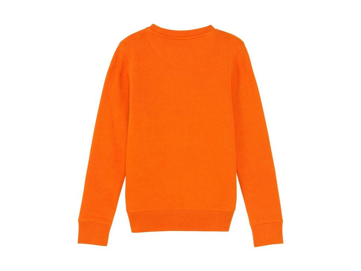 Iconic Kinder Rundhals-Sweatshirt - Bright Orange - 9-11 bedrucken, Art.-Nr. STSK913C01309