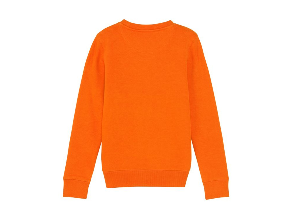 Iconic Kinder Rundhals-Sweatshirt - Bright Orange - 9-11 bedrucken, Art.-Nr. STSK913C01309